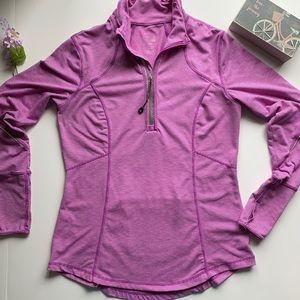 Tangerine SpaceDye 1/4 ZipActive Pullover Jacket M